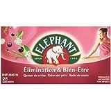 Elephant Infusion Elimination & Bien-Etre 25 sachets - Lot de 4