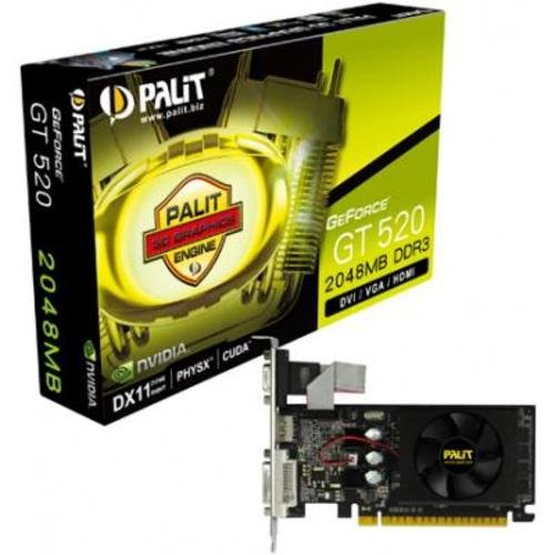 Palit GeForce GT 520 Graphics Card (2GB, PCI-Express 2.0, DDR3, nVIDIA PureVideo HD Technology)