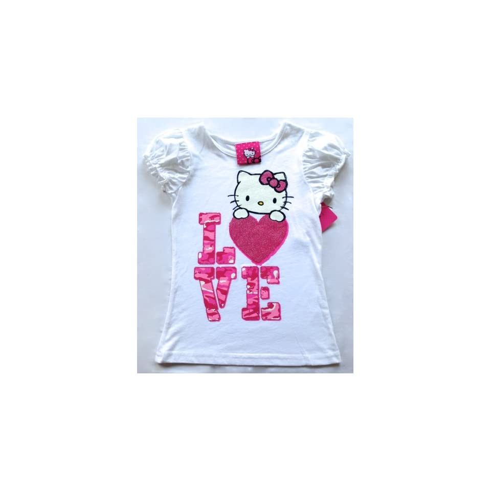 Hello Kitty Kids Shirt, Little Girls Graphic Tee (Size 3t)