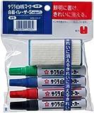 サクラクレパス 白板マーカー 中字 4色&イレーザーS WBK4ES-P