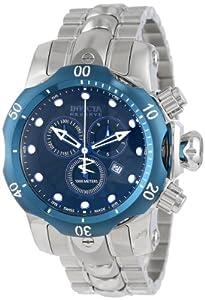 Invicta Men's 10805 Venom Reserve Chronograph Black Textured Dial Stainless Steel Watch