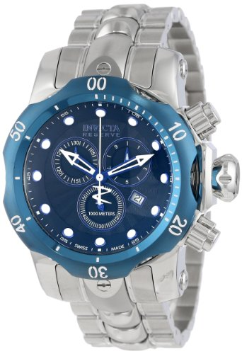 Invicta Men's 10805 Venom Reserve Chronograph Black Textured Dial Stainless Steel Watch