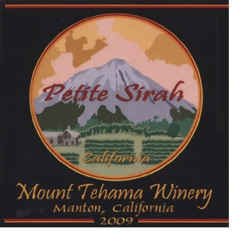2009 Mount Tehama Winery Petite Sirah Sierra Foothills 750 Ml