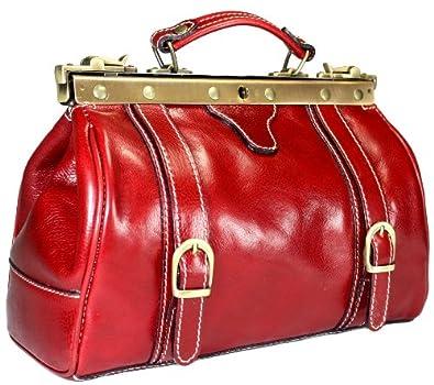 Rote On Delara Schuhe Kleine Arzttasche Leder Popscreen Handtasche v8mn0Nw