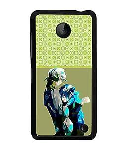 PrintVisa Metal Printed Love Designer Back Case Cover for Mnokia Lumia 630-D4877