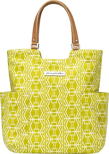 Petunia Pickle Bottom Tailored Tote in Electric Citrus, Yellow