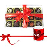 Valentine Chocholik Luxury Chocolates - Delectable Truffles Collection With Love Mug