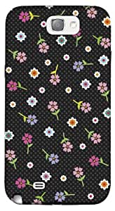 DailyObjects Polka Dot Flower Case For Samsung Galaxy Note 2 N7100 (Back Cover)