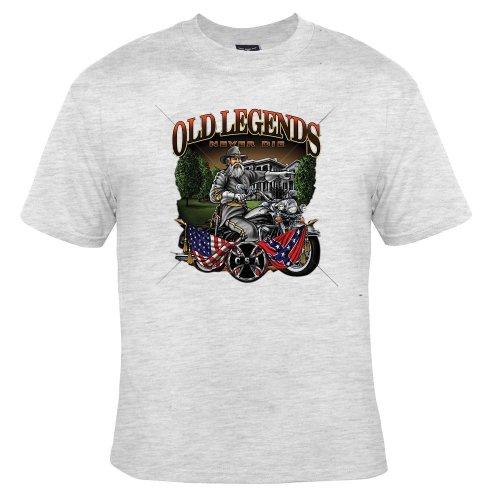 Old Legends Never Die Adult T-Shirt, Ash , Large