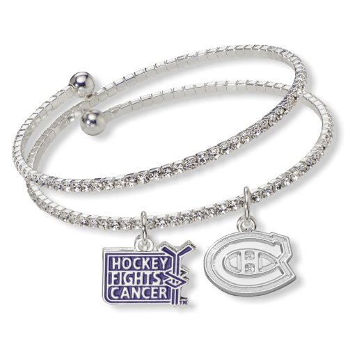 NHL Montreal Canadiens Hockey Fights Cancer Support Bracelet, One Size Fits All