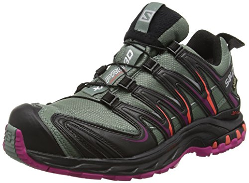 Salomon Xa Pro 3d Gtx, Scarpe da Trail Running Donna, Grigio (Light Titan/BLACK/CORAL Punch), 39 1/3 EU
