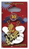 Disney Pins - Disney Pin Trading 10th Anniversary - Limited Edition - Tribute Collection - Cast Lanyard - Winnie-the-pooh on Train Pin 75858
