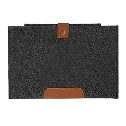 Magideal Woolen Felt Envelope Laptop Bag Cover Case Sleeve for 15