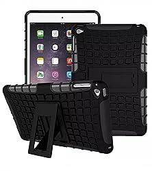 ProElite Heavy Duty Armor Dual Layer Shockproof Back Cover case for Apple ipad mini 4 (Black)