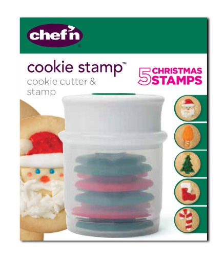 Chef'n Christmas Cookie Stamp and Cutter Set (Holiday Shapes)