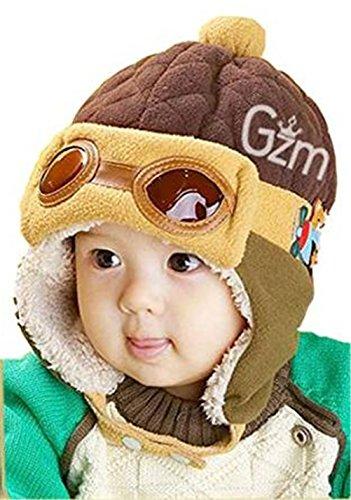 songqee Make Baby Mädchen/Jungen Winter Warm Hat Infant Beanie Cap Fleece Farbe Split mit Ohrenklappen