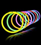 #8: Gifts Online Glow Sticks Bands - Premium Lumistick Bracelets - 50 Pcs Set Assorted Colours