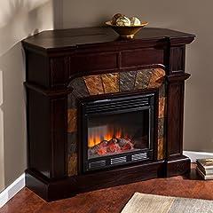 SEI Cartwright Convertible Electric Fireplace, Espresso