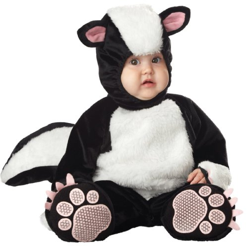 InCharacter Costumes Baby's Lil' Stinker Skunk Costume, Black/White/Pink, 12-18 Months