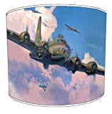 Premier Lampshades - 12 Inch Ceiling B-17 Flying Fortress Childrens Lamp Shades