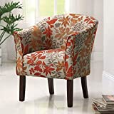 Coaster460407 Floral Barrel Back Accent Chair