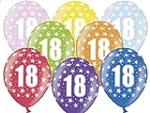 """SiDeSo� 10 Luftballons Zahl 18 14"""" bu..."""
