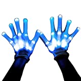 MAGIFIRE Led Skeleton Gloves, 12 Color Changeable Light Up Shows Halloween Costume, Novelty (Color: 12 Color Changable, Tamaño: one size)