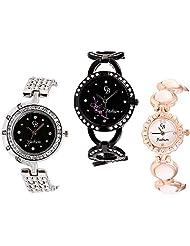 CB Fashion Combo Of Analog Multicolour Dial Women's Watch (RW205)