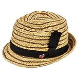 (クリスティーズ ハット)CHRISTYS' HAT 天然素材ハット ブラックリボン 帽子 [並行輸入品]