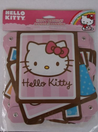 Hello Kitty Birthday Banner 7.59 Ft