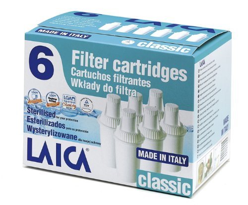LAICA 6 Pack Universal Classic Water Filter Cartridges