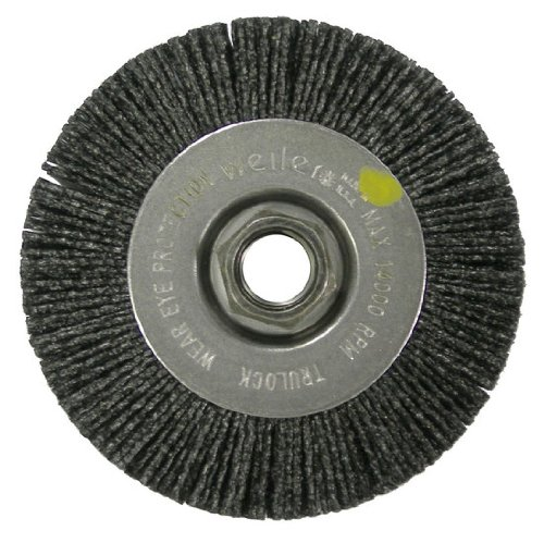 где купить Weiler Ceramic Wheel Brush - 0.055 in Bristle Dia 80 Grit Arbor Attachment - 4 in OD & 4800 Max RPM - 31111 [PRICE is per EACH] по лучшей цене