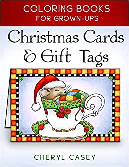 Christmas cards gift tags coloring books Coloring books for adults on amazon