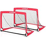 Alcoa Prime Lixada 40*30*30in Portable Folding Soccer Goal (2 Goals+1 Bag) Child Pop Up Soccer Goal For Sports...