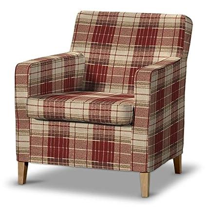 FRANC-TEXTIL 621-142-06 Karlstad funda de sillón, sillón funda, Karlstad sillón, Mirella, burdeos/marrón