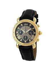 "JBW-Just Bling Women's JB-6210L-F ""Victory"" Combo Black Leather Diamond Watch"