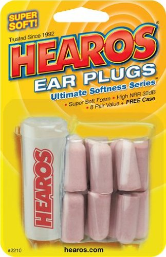 Hearos Ultimate Softness Series Ear Plugs 8-Pack With Case