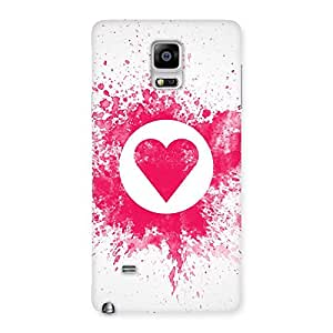 Splash Heart Back Case Cover for Galaxy Note 4