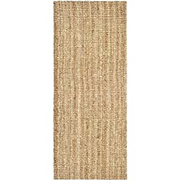 Safavieh Natural Fiber Collection NF447A Hand Woven Natural Jute Runner, 2 feet by 6 feet (2\' x 6\')