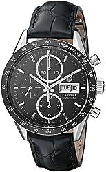 TAG Heuer Men's THCV201AGFC6266 Carrera Analog Display Swiss Automatic Black Watch