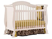Hot Sale Stork Craft Valentia Fixed Side Convertible Crib, White