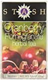 Stash Tea Cranberry Pomegranate Herbal 18 Count Box (Pack of 6)