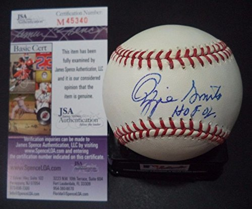 Ozzie Smith HOF 02 Stl Cardinals Signed Autograph Official MLB Baseball JSA COA #m45340