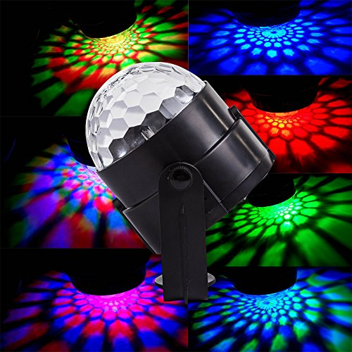 Disco Dj Lights Holiday House Party Lamps Spriak Dynamic LED Magic Lights 7 Color Sound Activated Stage Lights Effect Show Wedding Lights Bulb Kids Night Lights for Gifts Toys Home Nightclub Mood
