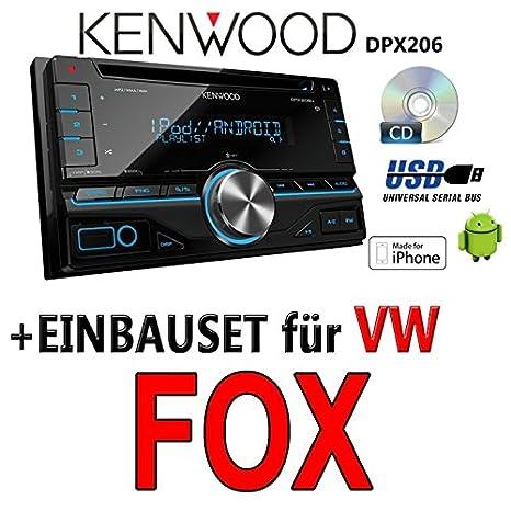 Kenwood-vW fox dPX 206-2DIN uSB avec kit de montage