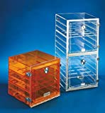 "Shelf f/ Stackable Acrylic Dessicator Cabinets w/ Gas Ports, clear, 12"" x 12"""