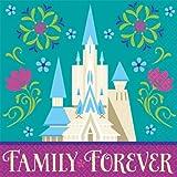 16 Count Disney Frozen Beverage Napkins, Multicolored