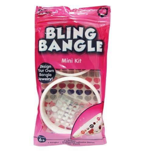 Kids Jewelry Design Your Own Bling Bangle Mini Kit for Ages 6+