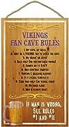 Minnesota Vikings Fan Cave Rules Wood Sign