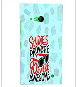 PrintDhaba Quote D-4760 Back Case Cover for NOKIA LUMIA 730 (Multi-Coloured)